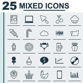 Set Of 25 Universal Editable Icons Can Be Used For Web Mobile And App Design Includes Elements Such As Lollipop Document Case Economy Growth And More