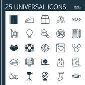 Set Of 25 Universal Editable Icons Can Be Used For Web Mobile And App Design Includes Elements Such As Refund Currency Recycle Agrimotor And More