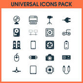 Computer Icons Set Collection Of Control Device Smartphone Camera And Other Elements Also Includes Symbols Such As Cursor Generator Tablet