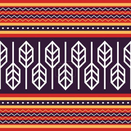Illustration pour Modèle de tissu traditionnel indonésien, conception vectorielle Tenun Sumba Etnic - image libre de droit