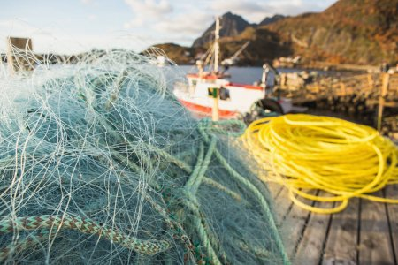 Many fishing nets