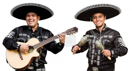 Mariachi with a guitar and castanets