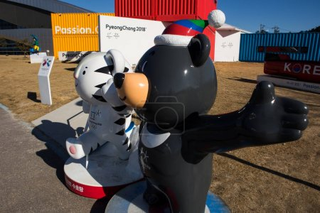 Mascots of the Winter Olympic Games 2018 in Pyeongchang