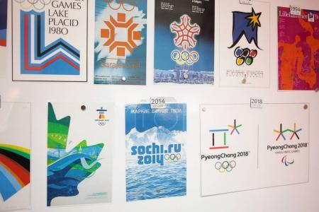 Logotipes of the Winter Olympic Games
