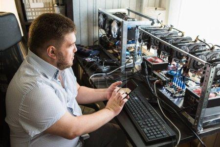 Programmer configures hardware for bitcoin mining