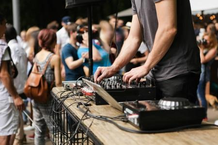 DJ at the city fair