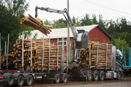 Loading of timber