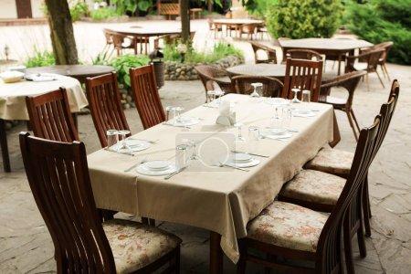 Street restaurant in the summer