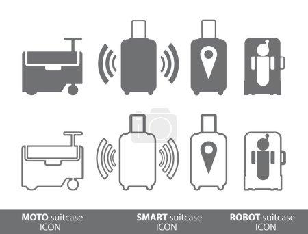 Moto suitcase, smart bag and robot case.