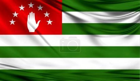 Flag of Abkhazia, close up.