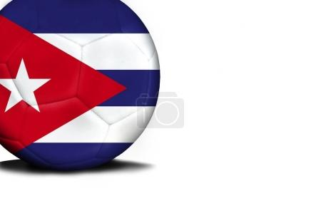 Flag of Cuba, the ball is isolated on a white background
