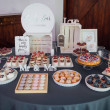 Candy bar. Table with different sweets for party....
