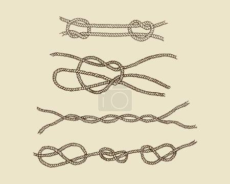 Nautical knot set