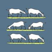 Goat herd illustration