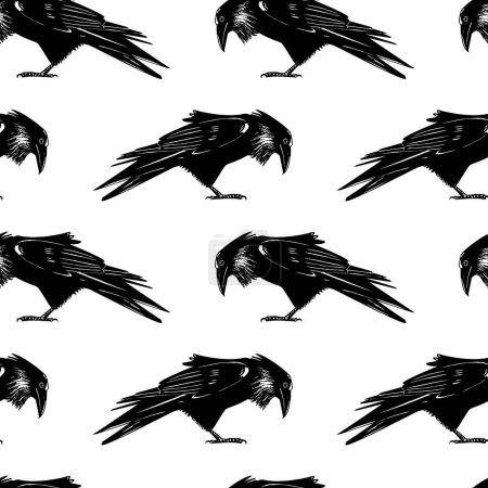 Ravens seamless pattern