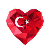 Vector  jewelry Turkish heart with the flag of the Republic of Turkey Flat style logo of love Turkey19 May the Commemoration of Ataturk Flag of TurkeyTurkey symbolVictory Republic Day 29 October