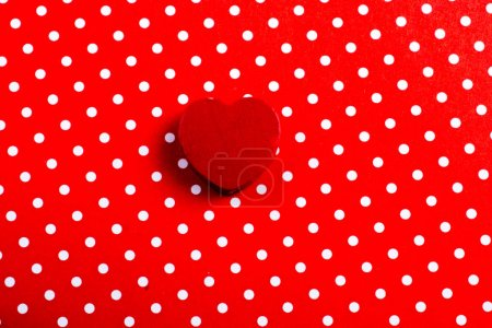 Photo for Red color heart shaped object in the view - Royalty Free Image