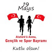 Graphic design to the Turkish holiday athletes silhouette logo