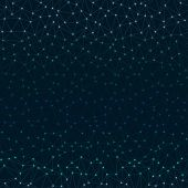 Polygonal grid seamless background connecting technilogy modern triangle net glowing stars