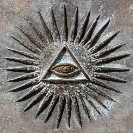 Photo pour All Seeing Eye, chanter (symbole ) - image libre de droit
