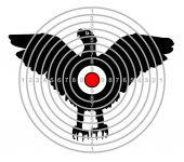 target shooting range bird eagle vector
