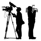 set of Cameraman silhouette vector