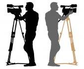 Cameraman silhouette vector