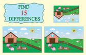 Find differences Educational game for children Farm pigs sheep