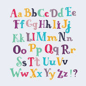 Cute typography letters set Uppercase and lowercase characters