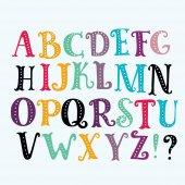 Bright alphabet set in vector