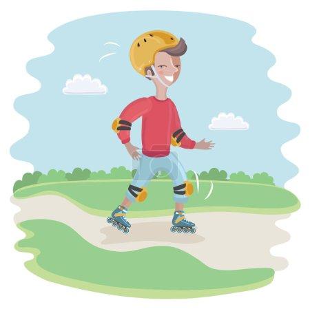 Skating Boy moving fast
