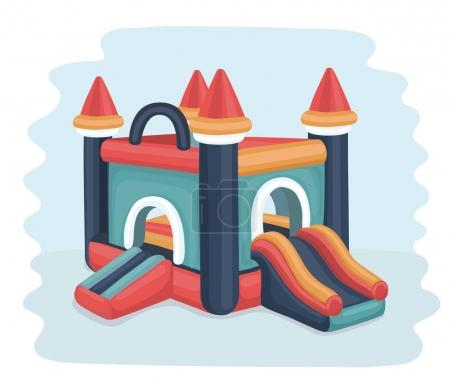 Flatable castle trampoline