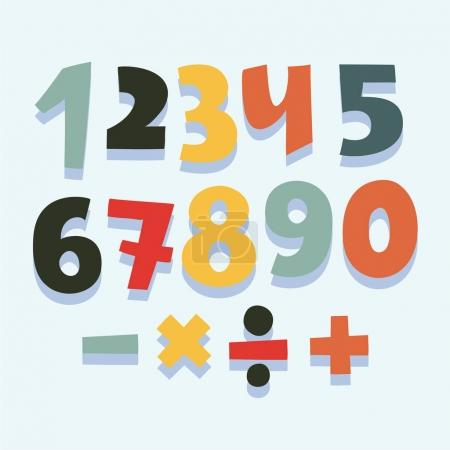 Colorful set of numbers.