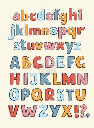 retro typography/font vector/illustration