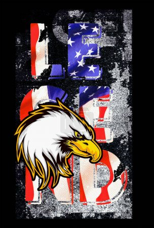 American flag with eagle. independence day