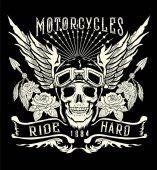 Motorcycle tattoo art logo