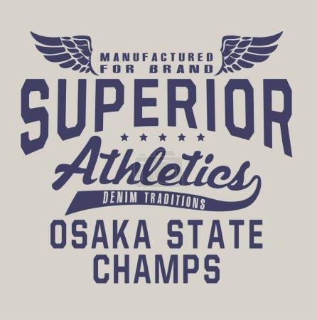 Superior athletics print