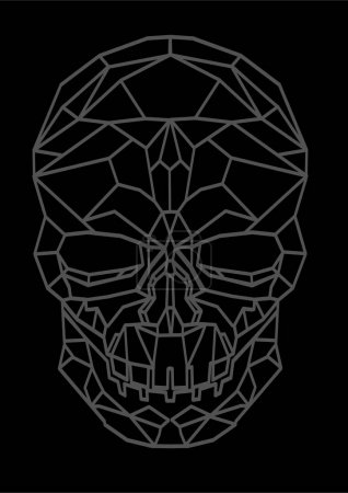 Abstract polygonal human skull illustration