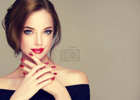 Photo for Beautiful  woman with fashion make-up   and perfect  manicure - Royalty Free Image