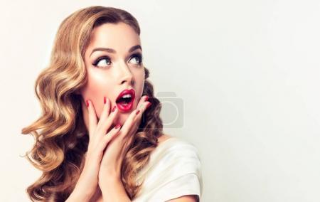 surprised girl screaming