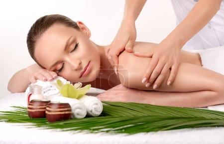 Spa body massage treatment.