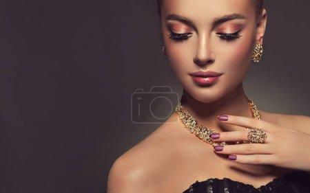 Beautiful girl with jewelry