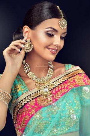Portrait of beautiful indian girl.
