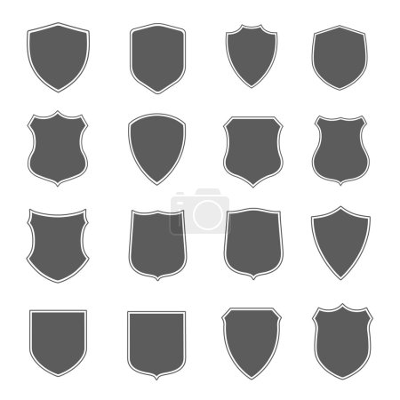Security black label set. Vector Illustration