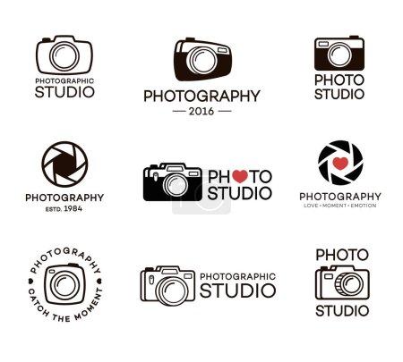 Set of photography and photo studio logo