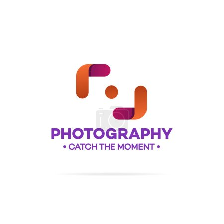 Photography logo orange and red color
