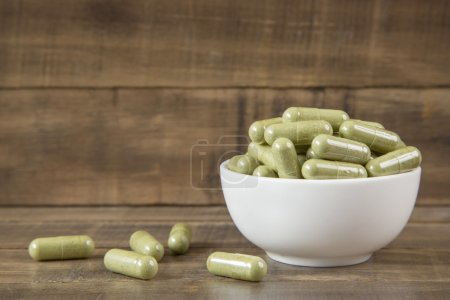 Photo pour Les feuilles de Moringa sont exceptionnellement nutritifs que lorsque fraîches sont riches en vitamine C - image libre de droit
