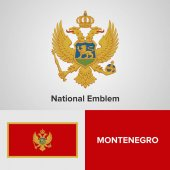 Montenegro National Emblem and flag