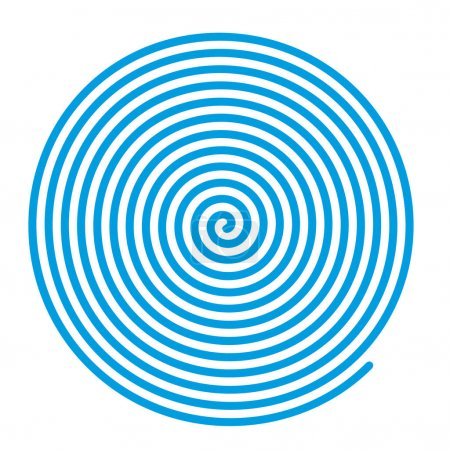 Illustration for Spiral vector backgrounds. Blue spiral, concentric lines, circular, rotating design element - Royalty Free Image
