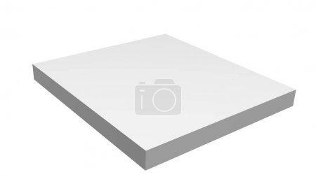 Photo for Mock up of square shape on white background - Royalty Free Image